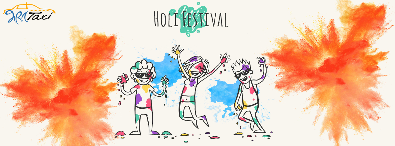 Holi Festival With Car Rentals in India-Bharat Taxi